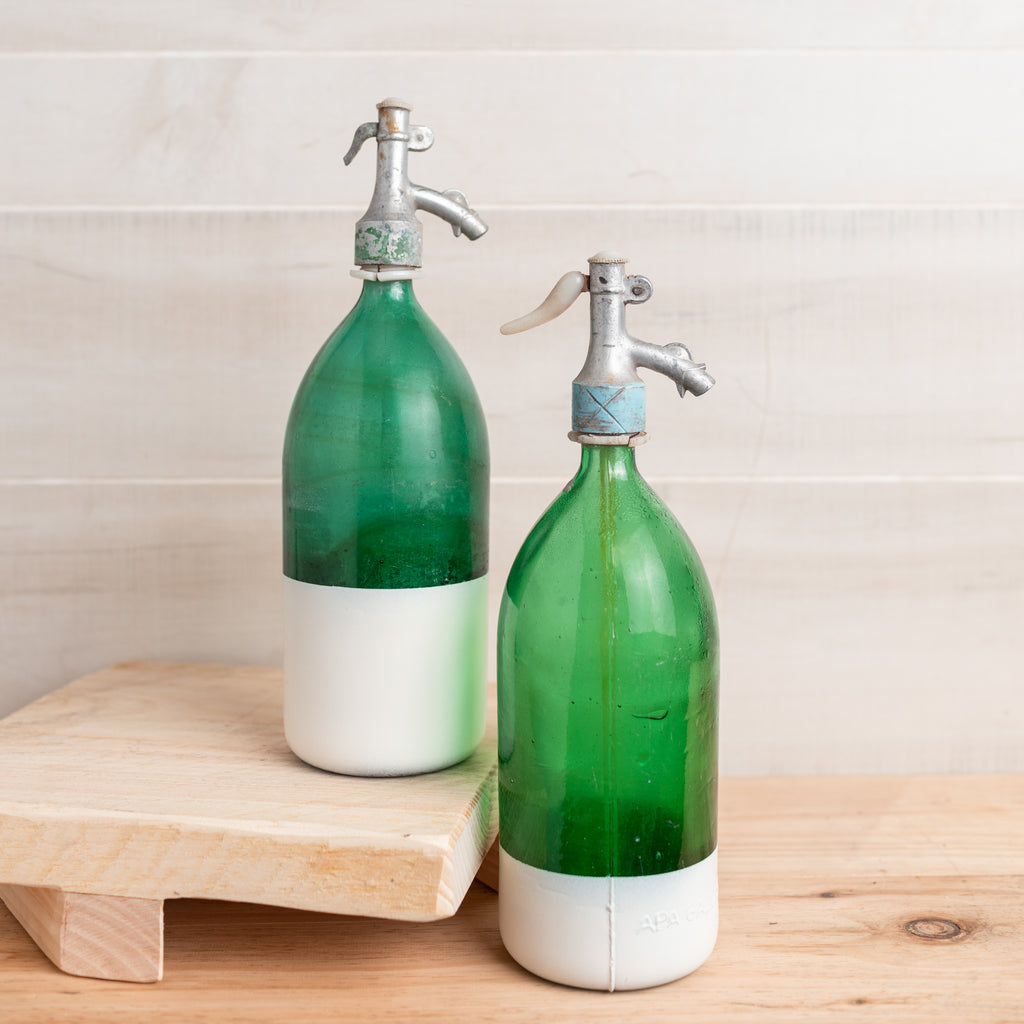 Color Block Seltzer Bottle