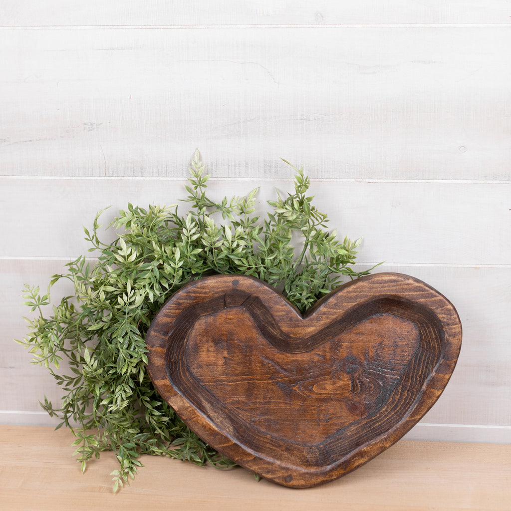 Handmade Heart Dough Bowl