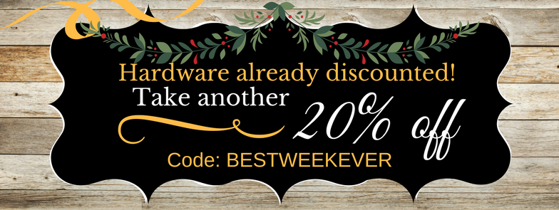 Additional 20% off Hardware!