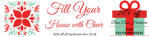 Barn Door Hardware 20% off
