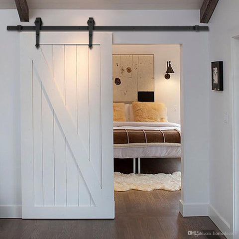 Barn Door Hardware Arrow White Door