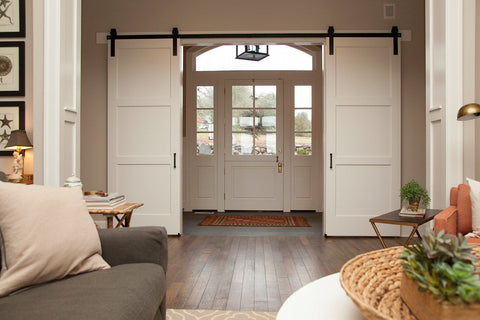 double door entry way