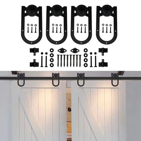 Barn Door Hardware Horseshoe Double