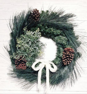 give JOY wreath winter berries