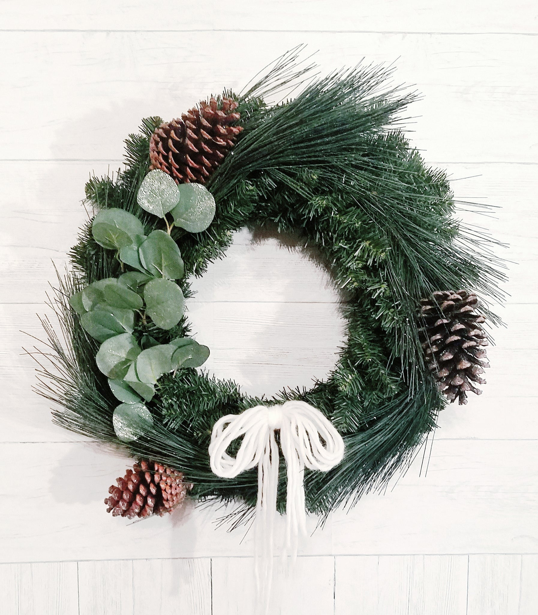 give JOY wreath eucalyptus