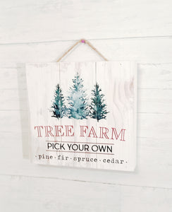 give JOY tree farm sign wood - Barrett Renovation & Home