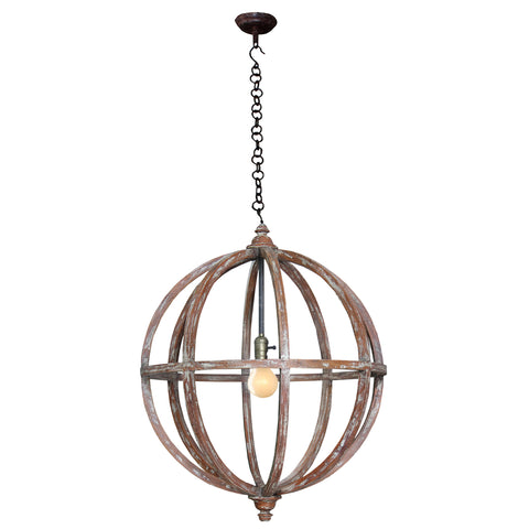 Sphere Chandelier Rustic - Barrett Renovation & Home