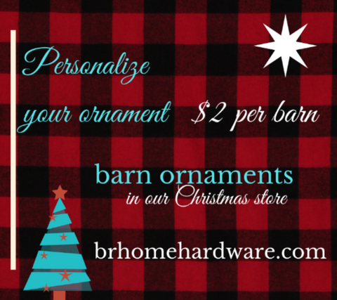 Barn Ornament Personally Yours! - Barrett Renovation & Home