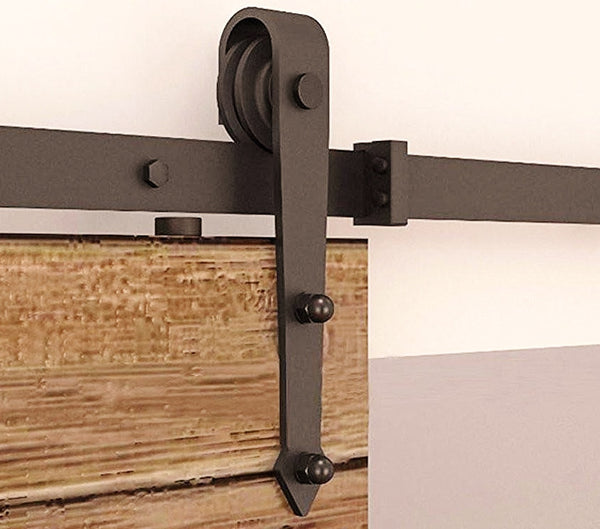 Barn Door Hardware 12ft Arrow Coffee Double Door