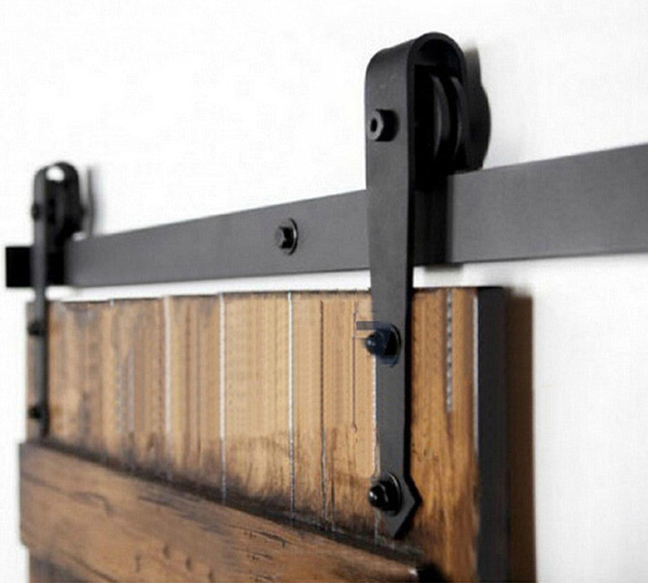 Barn Door Hardware Arrow 6ft Black - Barrett Renovation & Home