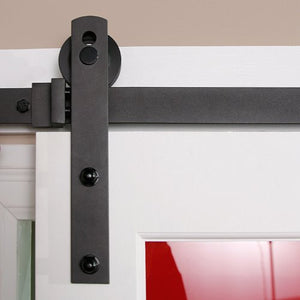 Barn Door Hardware Straight 6.6ft Black - Barrett Renovation & Home