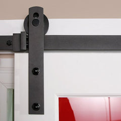 straight barn door hardware