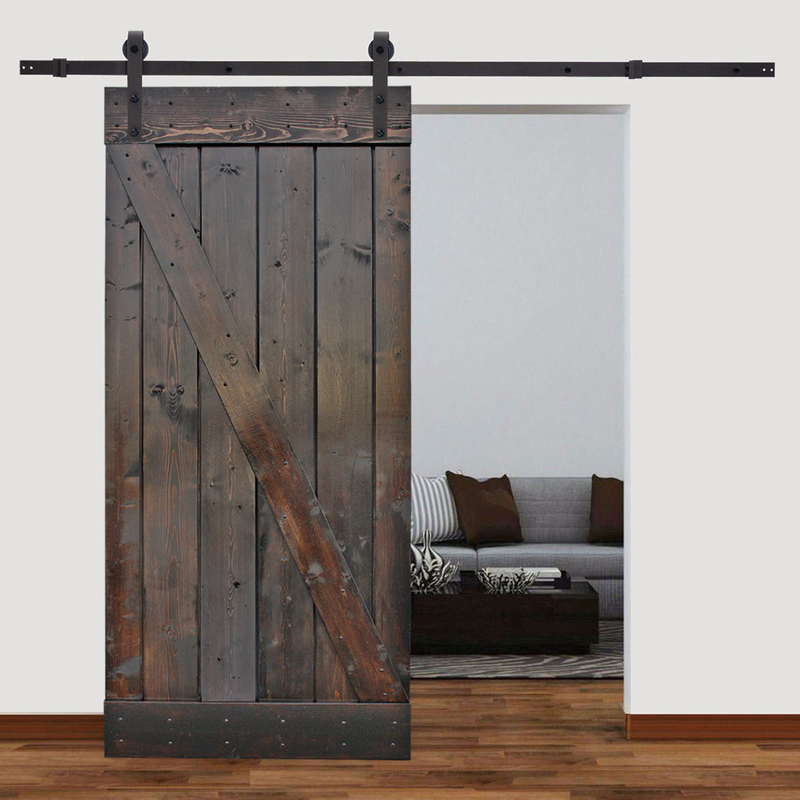 Z Barn Door Slab and Hardware Included 36x84 - Barrett Renovation & Home