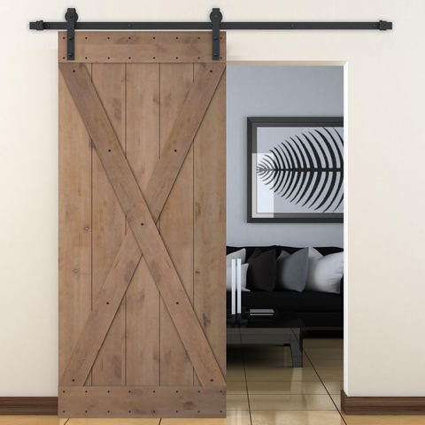 X Barn Door Slab and Hardware Included 36x84 - Barrett Renovation & Home