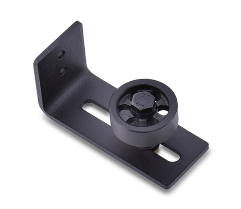 Barn Door Guide Adjustable Wheel Black