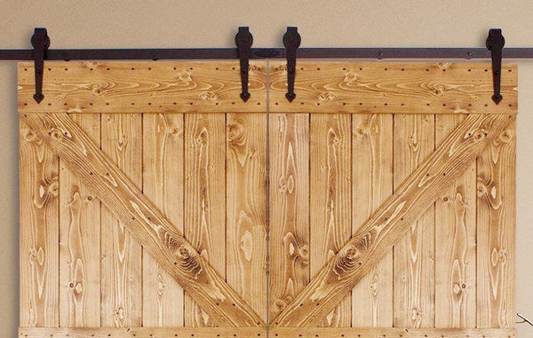 Barn Door Hardware 12ft Arrow Coffee Double Door - Barrett Renovation & Home