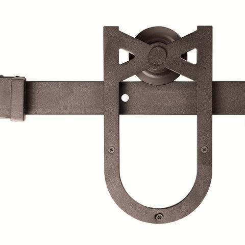 Barn Door Hardware Horseshoe 6ft Coffee