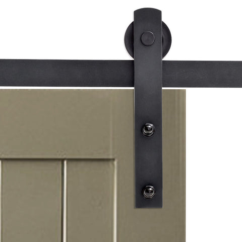 Barn Door Hardware Straight 6ft Black