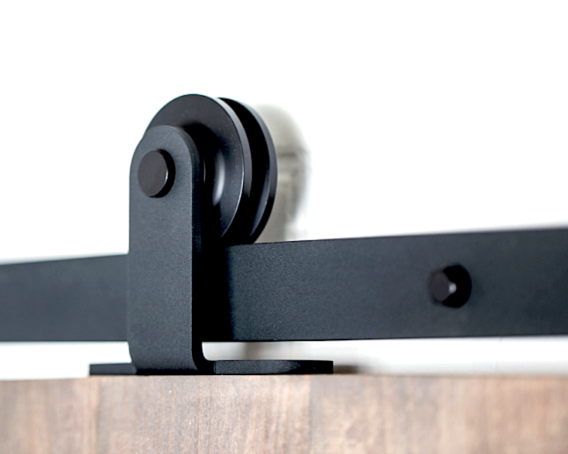 Barn Door Hardware Top Mount 6ft Black - Barrett Renovation & Home