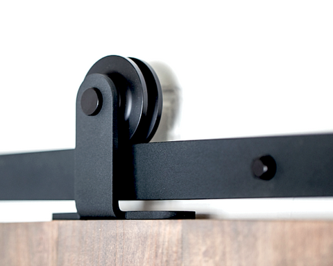 Barn Door Hardware Top Mount 6ft Black