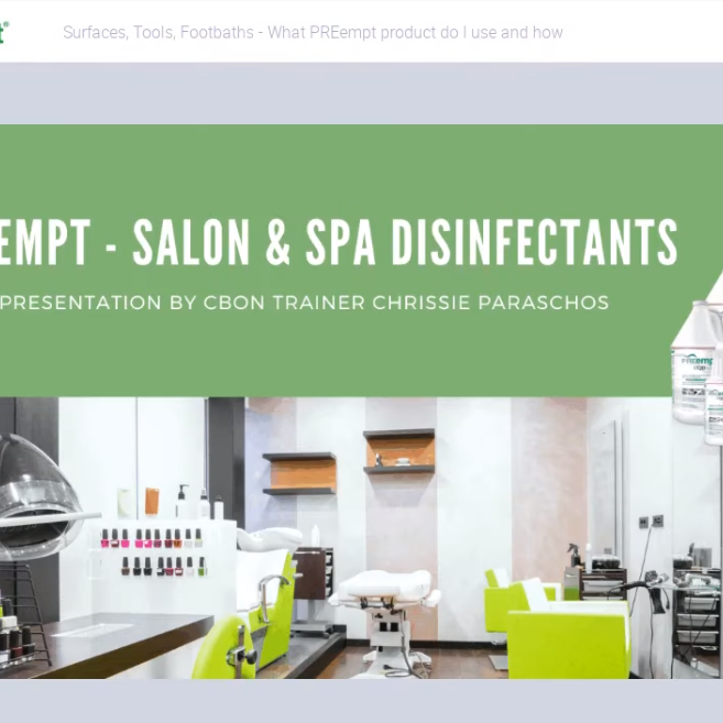 Preempt Infection Control for Salons & Spas