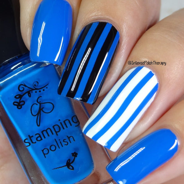 Clear Jelly Stamper Polish - CJS10 Gotta Be Blue