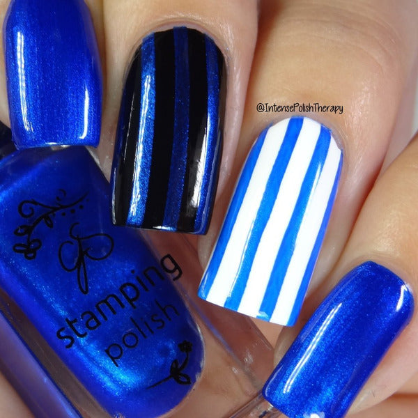 Clear Jelly Stamper Polish - CJS32 Blue Right on By 5ml