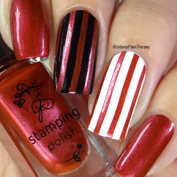 Clear Jelly Stamper Polish - CJS33 Crimson Crush