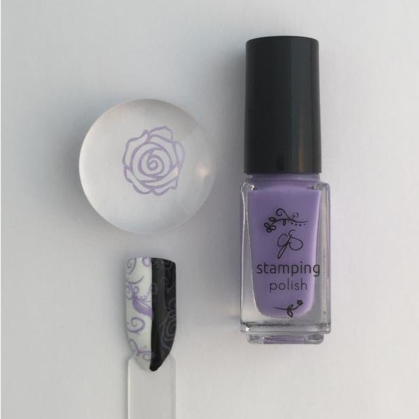 Clear Jelly Stamper Polish - CJS17 Lynnie Loves Lilac 5ml