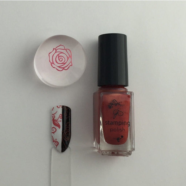 Clear Jelly Stamper Polish - CJS24 Copper Rose 5ml