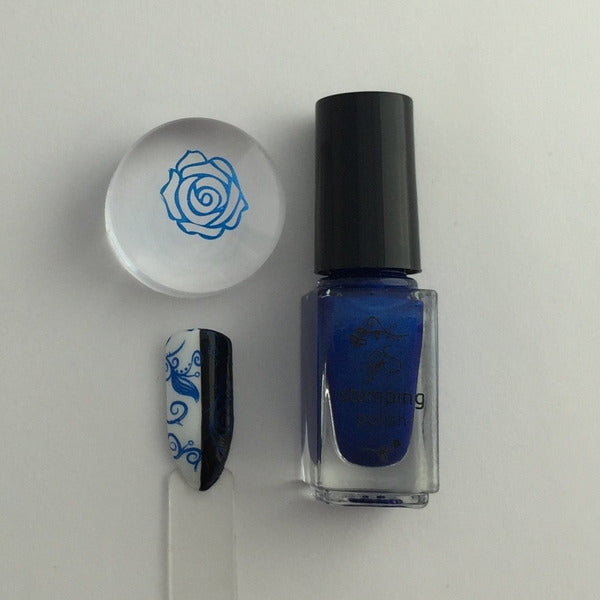 Clear Jelly Stamper Polish - #32 Blue Right on By 5ml