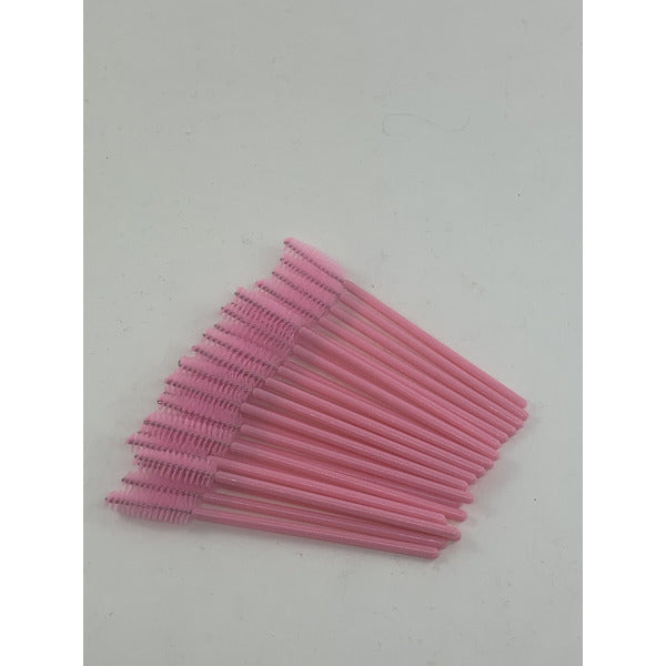 Mascara Brush 25 Pack (Pink)