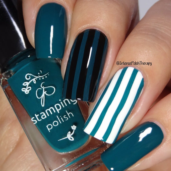Clear Jelly Stamper Polish - CJS39 Teal or No Deal! 5ml
