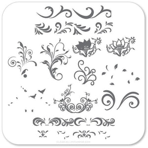 Clear Jelly Stamper Plate - Petit Swirls (1332552171599)