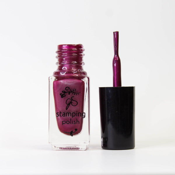 Clear Jelly Stamper Polish - CJS55 Pomegranate Pop