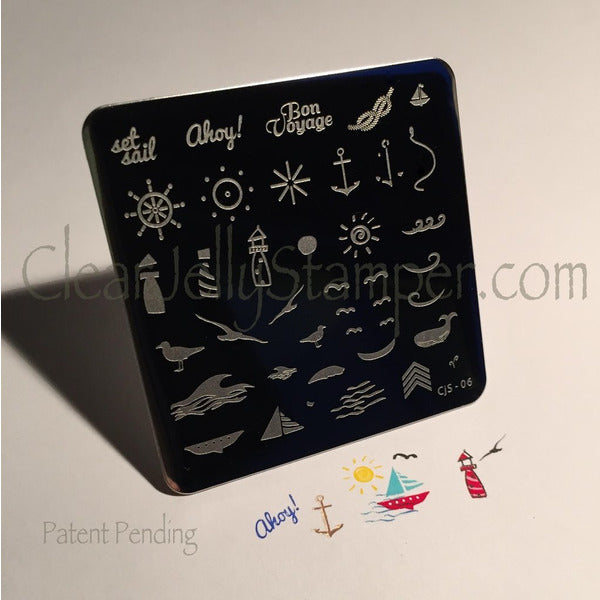Clear Jelly Stamper Plate - By The Sea