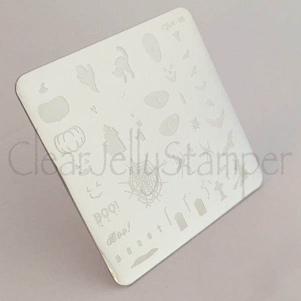 Clear Jelly Stamper Plate - Halloween Boo (SEASONAL)