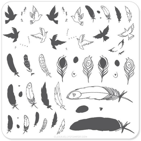 Clear Jelly Stamper Plate - Birds of a Feather (2451311558735)