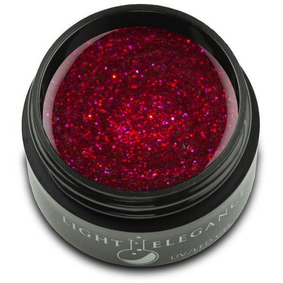Light Elegance Glitter Gel - Candy Apple LED/UV