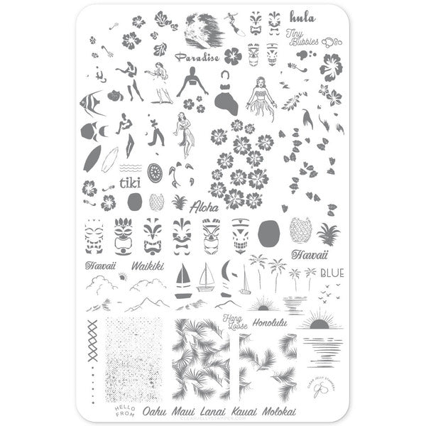 Clear Jelly Stamper Plate - Aloha! (CjS-128) (4388020027471)