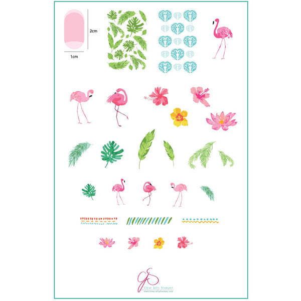 Clear Jelly Stamper Plate - Fabulous Flamingo