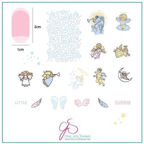 Clear Jelly Stamper Plate - Angelic (CjS-C-37)