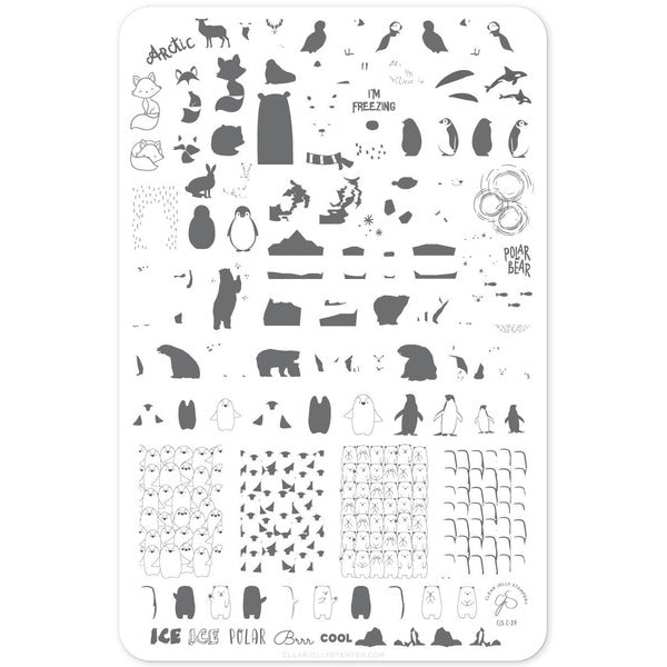 Clear Jelly Stamper Plate - Arctic Holiday (CjS-C-39)(Seasonal)