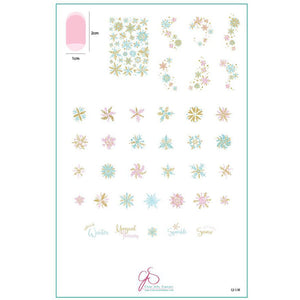 Clear Jelly Stamper Plate - Painted Snowflakes (CjS C-30)(SEASONAL) (4387895246927)