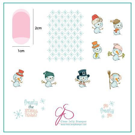 Clear Jelly Stamper Plate - Do You Want to Build a Snowman? (CjS C-40)(SEASONAL)