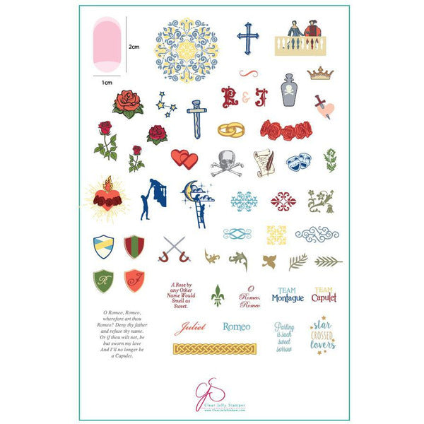 Clear Jelly Stamper Plate - Juliet's Love Story (SEASONAL)