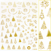 Daily Charme Gold Christmas Nail Art Sticker - Christmas Trees