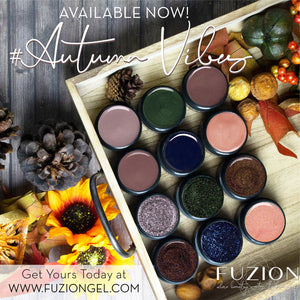 Fuzion Fall 2020 Glitter Gel Collection #AUTUMNVIBES