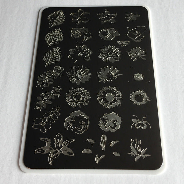 Clear Jelly Stamper Plate - Full On Floral
