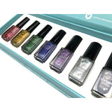 Clear Jelly Stamper Polish Kit - Holo (7 Colours) (2359048699983)